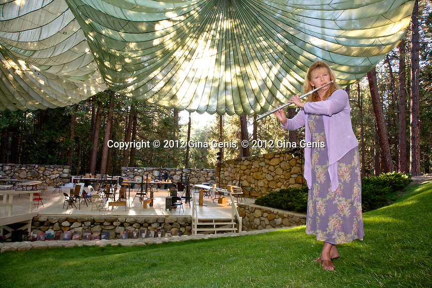 Kathy Harmon-Luber at the Ampitheater on the Campus of Idyllwild Arts  Kathy Harmon-Luber at the Ampetheater on the Campus of Idyllwild Arts