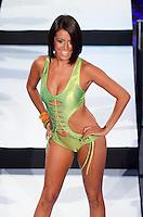 Miami Dolphins Cheerleader, Stephanie, walks runway at Miami Dolphins Cheerleaders 2013 Swimsuit Calendar Unveiling Fashion Show at LIV Nightclub in The Fontainebleau Miami Beach Hotel, Miami Beach, FL on August 26, 2012
