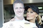 Motorsport: DTM Hockenheimring Baden-Württemberg/D  2008 1. Lauf <br /> Cora Schumacher küsste einen Pappaufsteller von ihrem Mann Ralf<br /> <br /> <br /> <br /> Foto © nph (nordphoto)<br /> <br /> <br /> <br /> <br />  *** Local Caption ***