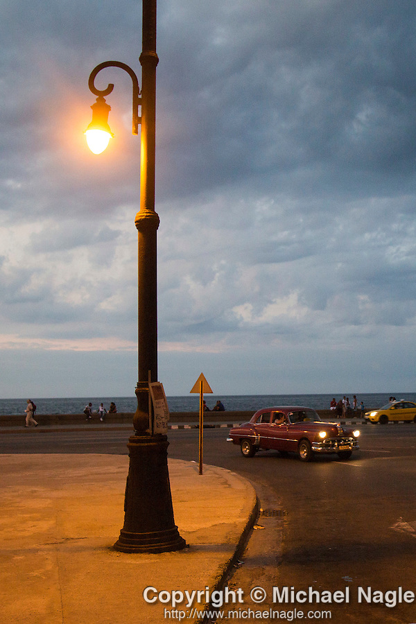 HAVANA, CUBA -- MARCH 23, 2015:  A view of the Malecon in Havana, Cuba on March 23, 2015. Photograph by Michael Nagle