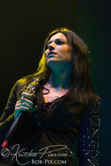 Lacuna Coil at Mohegan Sun Arena for the Gigantour Tour, January 27, 2012