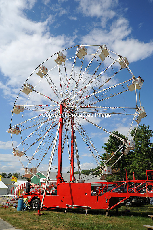 Ferris wheel on the midway at Cheshire Fair in Swanzey, New Hampshire USA