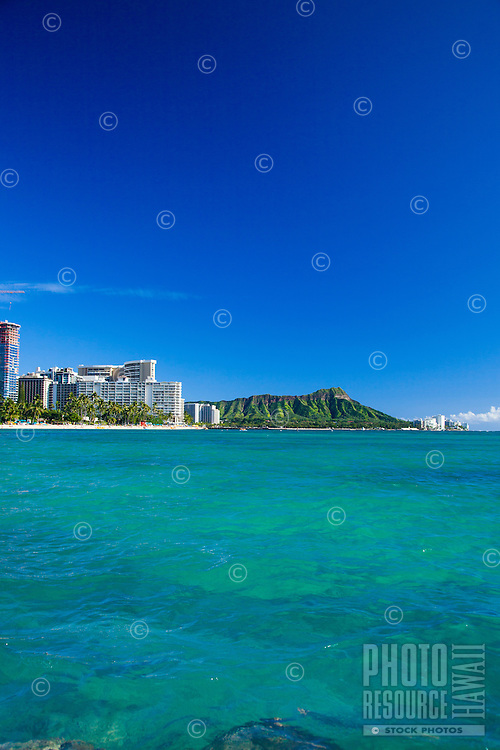View of Diamond Head and Waikiki as seen from the water
