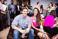 Toby Moore, Jenny Schrette attend DC Tech Meets Muriel Bowser hosted by WeWork Wonder Bread Factory on August 13, 2014. Photos by Joy Asico /Guest of a Guest