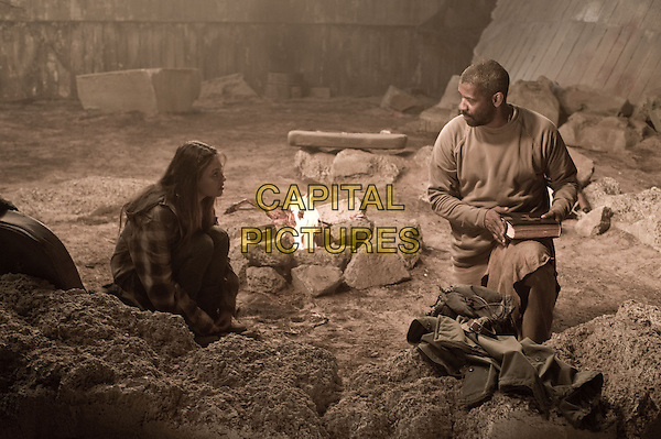 MILA KUNIS & DENZEL WASHINGTON .in The Book of Eli .*Filmstill - Editorial Use Only*.CAP/FB.Supplied by Capital Pictures.