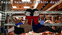 Happy Valentine and White Day. Kobe, Hyogo Prefecture, Japan. 2015