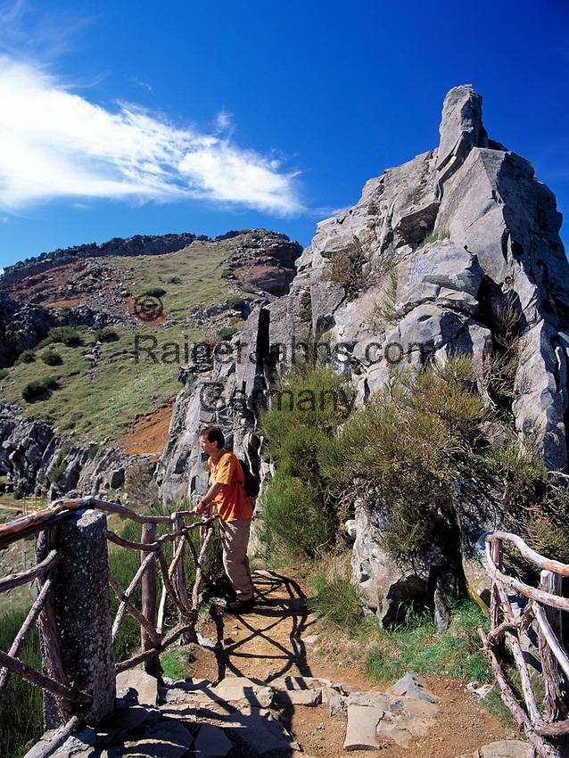 Portugal, Madeira, Wanderweg zum Pico Ruivo   Portugal, Madeira, hiking trail to Pico Ruivo