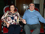 Ned Briscoe celebrating his 70th birthday with his wife Mary in the Westcourt hotel. Photo:Colin Bell/pressphotos.ie