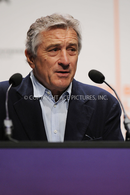 WWW.ACEPIXS.COM . . . . . ....April 21 2009, New York City....Robert De Niro, one of the founders of the Tribecca Film Festival, at the 8th annual Tribeca Film Festival opening press conference at the Tribeca Performing Arts Center on April 21, 2009 in New York City.....Please byline: KRISTIN CALLAHAN - ACEPIXS.COM.. . . . . . ..Ace Pictures, Inc:  ..tel: (212) 243 8787 or (646) 769 0430..e-mail: info@acepixs.com..web: http://www.acepixs.com