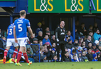 Paul Cook manager of Portsmouth during the FA Cup 1st round match between Portsmouth and Wycombe Wanderers at Fratton Park, Portsmouth, England on the 5th November 2016. Photo by Liam McAvoy.