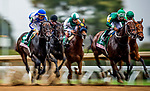 OCT 06: The Field for the Spinster Stakes races down the stretch at Keeneland Racecourse, Kentucky on October 06, 2019.  Evers/Eclipse Sportswire/CSM