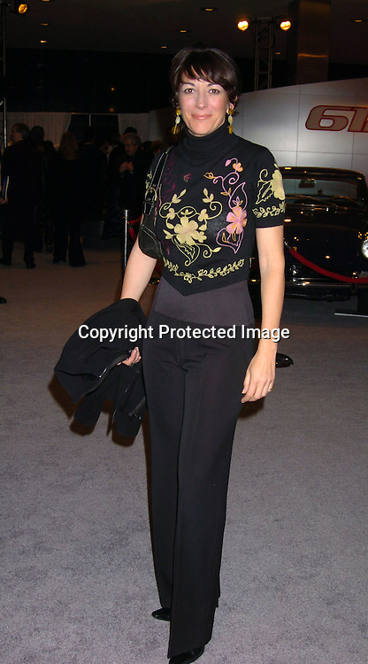 Ghislaine Maxwell..at the party for the Start of the 50th anniversary of Ferrari in the United States on December 2,2003 at the Lever House. Photo by Robin Platzer, Twin Images