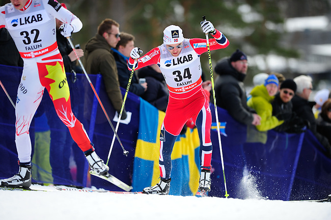 FALUN, SWEDEN - March 24: Tord Asle Gjerdalen of Norway (NOR) during the Viessmann Men Handicap 15 km F at the FIS Cross country World Cup Final on March 24, 2013 in Falun, Sweden. (Photo by Dirk Markgraf)