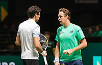 Rotterdam, The Netherlands, 14 Februari 2019, ABNAMRO World Tennis Tournament, Ahoy, Semis, Doubles,<br /> Jeremy Chardy (FRA) Henri Kontinen (FIN),<br /> Photo: www.tennisimages.com/Henk Koster