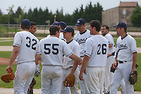 21 May 2009: Team Savigny celebrates during the 2009 challenge de France, a tournament with the best French baseball teams - all eight elite league clubs - to determine a spot in the European Cup next year, at Montpellier, France.