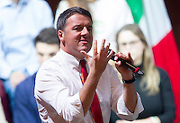 "Il presidente del consiglio Matteo Renzi parla durante una manifestazione per il Si' al referendum costituzionale del prossimo 4 dicembre, a Roma, 26 novembre 2016.<br /> Italian Premier Matteo Renzi speaks during a demonstration in support of the ""Yes"" vote to the upcoming constitutional referendum, in Rome, 27 November 2016. Italians will be called on December 4 to vote in a referendum proposed by Renzi's government, on the reform of the Constitution<br /> UPDATE IMAGES PRESS/Riccardo De Luca"