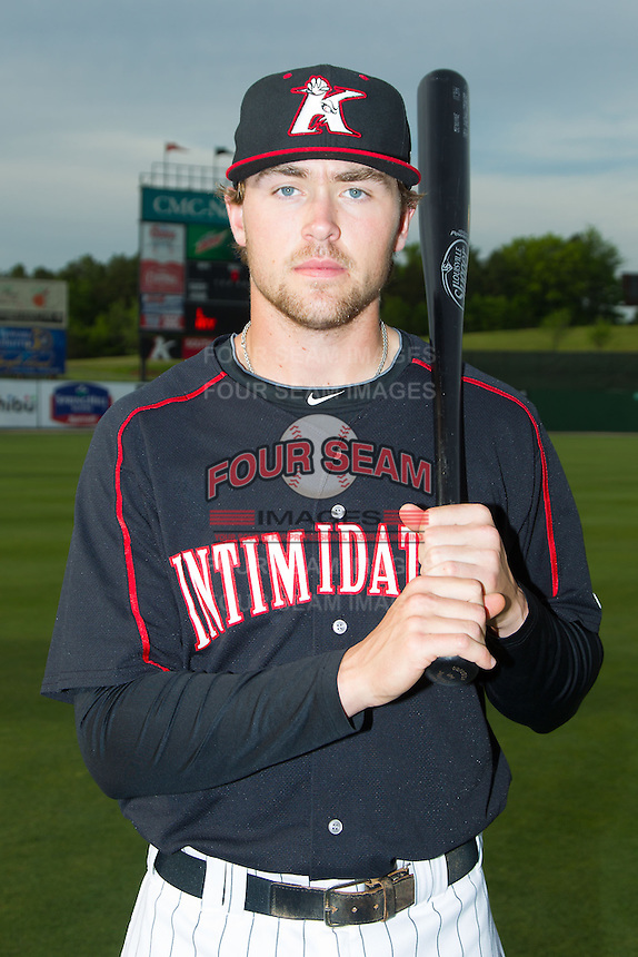 Trey Michalczewski (27) of the Kannapolis Intimidators poses for a photo prior to the game against the Hickory Crawdads at CMC-Northeast Stadium on May 2, 2014 in Kannapolis, North Carolina.  The Crawdads defeated the Intimidators 7-2.  (Brian Westerholt/Four Seam Images)