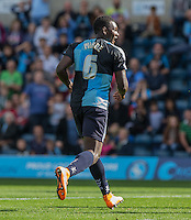 Aaron Pierre of Wycombe Wanderers during the Sky Bet League 2 match between Wycombe Wanderers and Plymouth Argyle at Adams Park, High Wycombe, England on 12 September 2015. Photo by Andy Rowland.