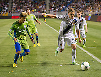 CARSON, CA - May 26, 2012: LA Galaxy forward Robbie Rogers (14) during the LA Galaxy vs Seattle Sounders match at the Home Depot Center in Carson, California. Final score, LA Galaxy 4, Seattle Sounders 0.