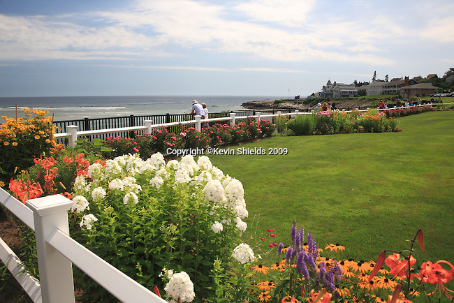 Gardens along Marginal Way at the Sparhawk Resort in Ogunquit, Maine, USA