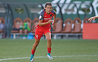 Portland, OR - Wednesday June 28, 2017: Emily Menges during a regular season National Women's Soccer League (NWSL) match between the Portland Thorns FC and FC Kansas City at Providence Park.