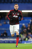 Nemanja Matic of Manchester United warms up ahead of kick-off during Chelsea vs Manchester United, Emirates FA Cup Football at Stamford Bridge on 18th February 2019