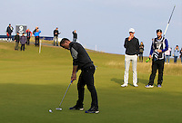 Brian O'Driscoll (AM) on the 11th green during Round 3 of the 2015 Alfred Dunhill Links Championship at Kingsbarns in Scotland on 3/10/15.<br /> Picture: Thos Caffrey | Golffile