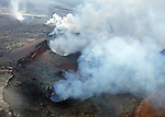 Aerial view of the Kilauea Volcano on the Big Island of Hawaii.