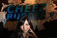 02012013- Seattle University alum Sarah Hiraki, '10, at her new job at Cheez Burger, located  in Seattle's lower Queen Anne neighborhood.