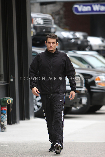WWW.ACEPIXS.COM ** ** ** ....September 16 2008, New York City....Musician John Mayer walks home for the gym in his Soho neighborhood on September 16 2008 in New York City......Please byline: STAN ROSE -- ACEPIXS.COM.. *** ***  ..Ace Pictures, Inc:  ..tel: (646) 769 0430..e-mail: info@acepixs.com..web: http://www.acepixs.com