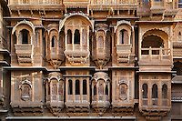 Detail of facade, Patwon ki Haveli, Rajasthan, India