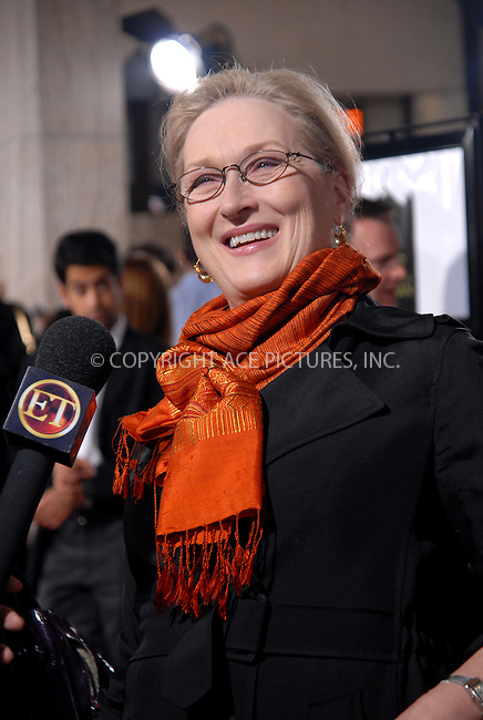 WWW.ACEPIXS.COM . . . . .  ....October 30, 2008. Los Angeles, CA....Actress Meryl Streep attends AFI Fest's Premiere 'Doubt' held at ArcLight Hollywood on October 30, 2008 in Los Angeles, CA......Please byline: Joe West- ACEPIXS.COM.... *** ***..Ace Pictures, Inc:  ..Philip Vaughan (646) 769 0430..e-mail: info@acepixs.com..web: http://www.acepixs.com
