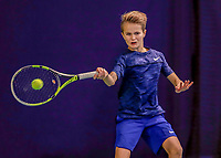 Hilversum, Netherlands, December 3, 2017, Winter Youth Circuit Masters, 12,14,and 16, years, Tijs Groesbeek (NED)<br /> Photo: Tennisimages/Henk Koster