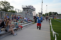 Kansas City, MO - Saturday May 07, 2016: FC Kansas City mascot Calvin performs before a regular season National Women's Soccer League (NWSL) match at Swope Soccer Village. Houston won 2-1.