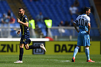 Perparim Hetemaj of AC Chievo Verona celebrates after scoring goal of 0-2 as Luis Alberto of Lazio looks dejected during the Serie A 2018/2019 football match between SS Lazio and AC Chievo Verona at stadio Olimpico, Roma, April, 20, 2019 <br /> Photo Antonietta Baldassarre / Insidefoto
