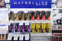 Various Maybelline New-York products are seen on a shelf at a Jean Coutu Pharmacy in Quebec city March 4, 2009.