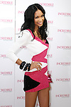 "Chanel Iman poses during the ""Incredible by Victoria's Secret"" launch at the Victoria Secret SOHO Store, August 10, 2010."