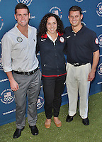LONDON - July 26: David Boudia, Christina Lucas & Troy Dumais at the U.S. Olympic Committee Benefit Gala (Photo by Brett D. Cove) /NortePhoto.com.<br />
