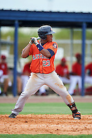 GCL Astros first baseman Cristopher Luciano (23) at bat during a game against the GCL Nationals on August 14, 2016 at the Carl Barger Baseball Complex in Viera, Florida.  GCL Nationals defeated GCL Astros 8-6.  (Mike Janes/Four Seam Images)
