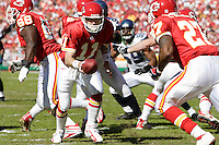 Chiefs quarterback Damon Huard in action against the Seattle Seahawks at Arrowhead Stadium  in Kansas City, Missouri on October 29, 2006. The Chiefs won 35-28.