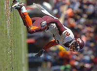 19 November 2005: CB Jimmy Williams (2).The Virginia Tech Hokies defeated the Virginia Cavaliers 52-14 for the Commonwealth Cup at Scott Stadium in Charlottesville, VA.