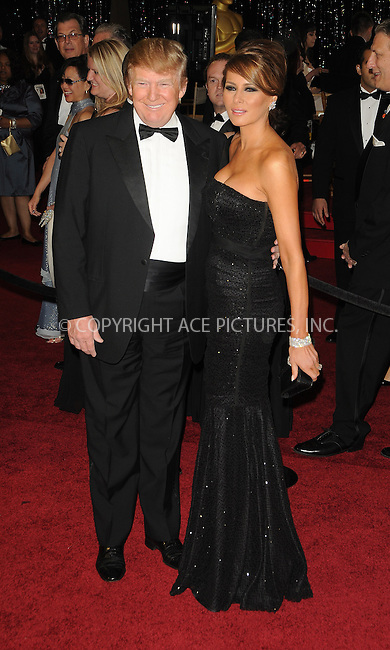 WWW.ACEPIXS.COM . . . . . ....February 27 2011, Hollywood, CA....Donald Trump and Melania Trump arriving at the 83rd Annual Academy Awards held at Kodak Theatre on February 27 2011 in Hollywood, California.....Please byline: PETER WEST - ACEPIXS.COM....Ace Pictures, Inc:  ..(212) 243-8787 or (646) 679 0430..e-mail: picturedesk@acepixs.com..web: http://www.acepixs.com