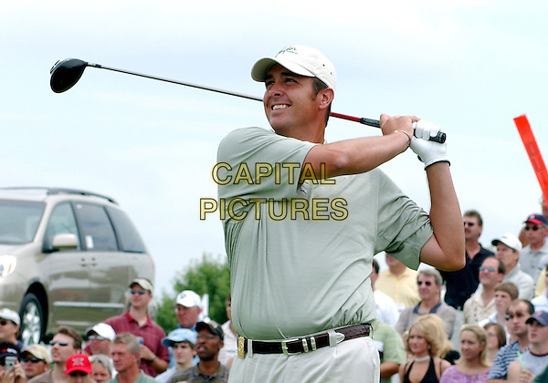 TOMMY MADDOX.(NFL - Pittsburgh Steeler quarterback).participated at the 2004 Mellon Mario Lemieux Celebrity Invitational at The Club At Nevillewood,  Pittsburgh, PA, USA, June 10-13 2004..half length playing sport cap hat golf club.Ref: ADM.www.capitalpictures.com.sales@capitalpictures.com.©Jason Nelson/AdMedia/Capital Pictures.