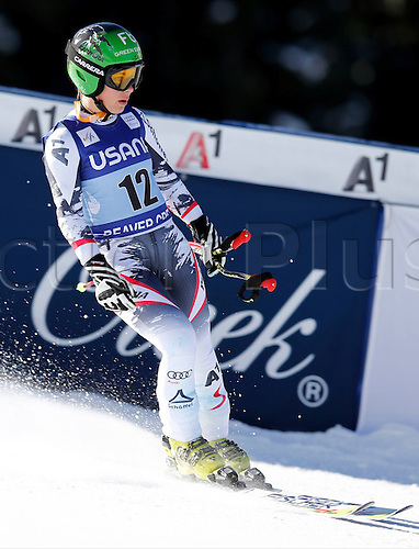 30.11.2013. Beaver Creek, Colorado, USA. Womens Super G downhill skiing world cup. Nicole Schmidhofer (AUT).