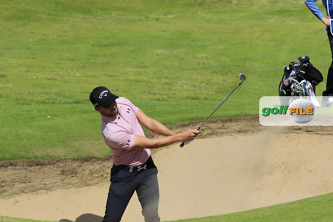 Haydn Porteous (RSA) chips from a bunker at the 2nd green during Saturday's Round 3 of the 2017 Dubai Duty Free Irish Open held at Portstewart Golf Club, Portstewart, Co Derry, Northern Ireland. 08/07/2017<br /> Picture: Golffile | Eoin Clarke<br /> <br /> <br /> All photo usage must carry mandatory copyright credit (&copy; Golffile | Eoin Clarke)