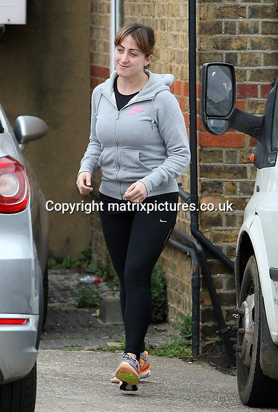 EXCLUSIVE All ROUND PICTURE: MATRIXPICTURES.CO.UK.PLEASE CREDIT ALL USES..WORLD RIGHTS..English former EastEnders actress Natalie Cassidy is pictured leaving her local gym in Hertfordshire...The 29-year-old Loose Women regular has been making headlines following her recent dramatic weight loss...APRIL 19th 2013..REF: MTX 132602