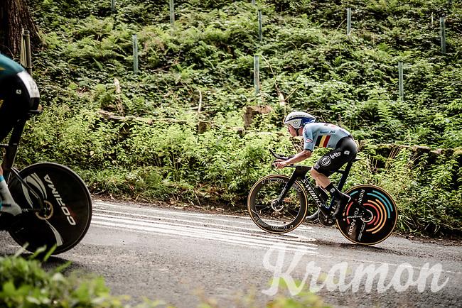 Remco Evenepoel (BEL/Deceuninck-Quickstep)<br /> Elite Men Individual Time Trial<br /> from Northhallerton to Harrogate (54km)<br /> <br /> 2019 Road World Championships Yorkshire (GBR)<br /> <br /> ©kramon