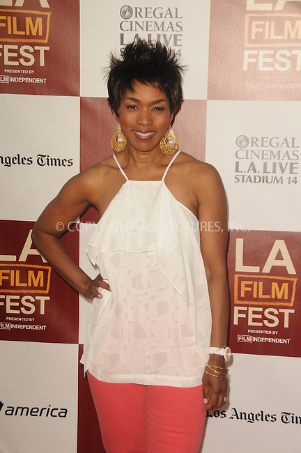 WWW.ACEPIXS.COM . . . . .  ....June 20 2012, LA....Angela Bassett arriving at Film Independent's 2012 Los Angeles Film Festival Premiere Of  'Middle Of Nowhere' at Regal Cinemas L.A. Live on June 20, 2012 in Los Angeles, California. ....Please byline: PETER WEST - ACE PICTURES.... *** ***..Ace Pictures, Inc:  ..Philip Vaughan (212) 243-8787 or (646) 769 0430..e-mail: info@acepixs.com..web: http://www.acepixs.com