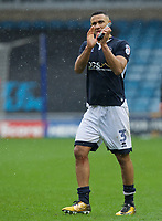 James Meredith of Millwall thanks the fans after their 2-0 win in the Sky Bet Championship match between Millwall and Nottingham Forest at The Den, London, England on 30 March 2018. Photo by Alan  Stanford / PRiME Media Images.