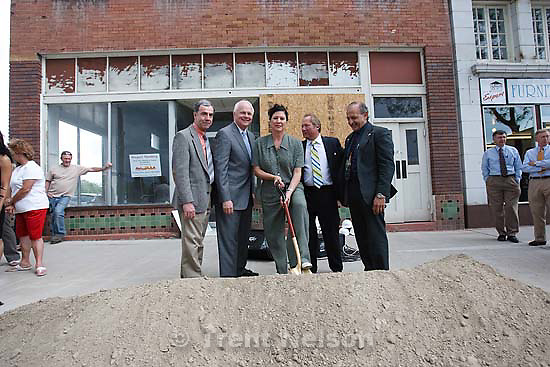 Price - Price - Groundbreaking at the Newhouse Hotel, which is set to be renovated into a new homeless shelter. Thursday May 28, 2009. ?, gordon walker, beth wirtz, ben logue, mayor joe piccolo